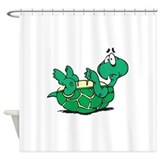 scared little turtle.png Shower Curtain