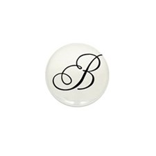 Champagne Monogram B Mini Button (10 pack)