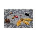 Imagine Strawberry Fields NYC Rectangle Car Magnet