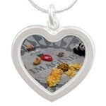 Imagine Strawberry Fields NYC Silver Heart Necklac