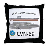 USS Eisenhower CVN-69 Throw Pillow