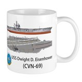 USS Eisenhower CVN-69 Coffee Mug