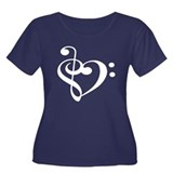 Treble Bass Heart - Dark Shirt Plus Size T-Shirt
