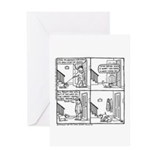 Pee In The Snowboot Greeting Card