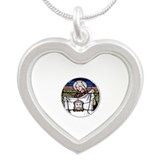 St. Veronica Stained Glass Window Silver Heart Nec