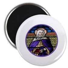 "St. Anne Stained Glass Window 2.25"" Magnet (10 pac"