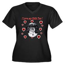I Love my Shih Tzu-Mia Plus Size T-Shirt
