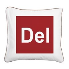 Cute Geek Square Canvas Pillow