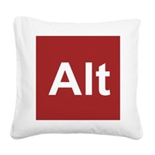 Cute Ctrl alt del Square Canvas Pillow