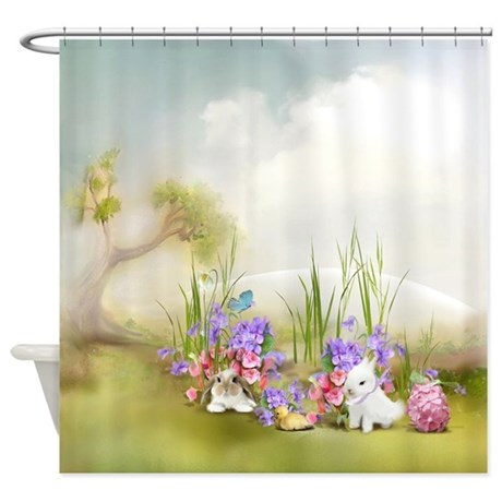 Easter Bunnies Shower Curtain By ShowerCurtainShop