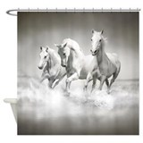 Wild White Horses Shower Curtain
