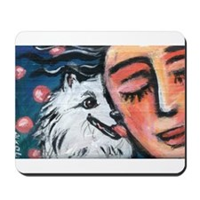 Eskie kiss Mousepad