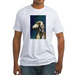 SALUKI port Fitted T-Shirt
