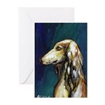 SALUKI port Greeting Cards (Pk of 10)