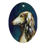 SALUKI port Oval Ornament