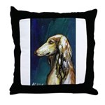 SALUKI port Throw Pillow