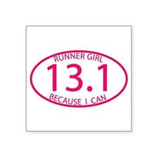13.1 Runner Girl Because I Can Sticker