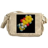Warfarin molecule - Messenger Bag