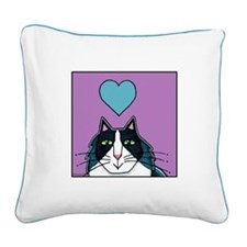 TUXEDO CAT... Canvas Art Pillow by Susan Faye