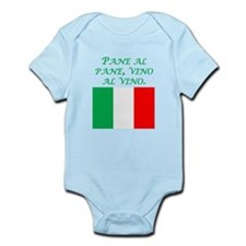 Italian Proverb Bread And Wine Body Suit