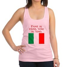 Italian Proverb Bread And Wine Racerback Tank Top