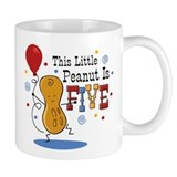Little Peanut 5th Birthday Small Mug