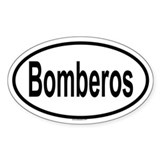 BOMBEROS Oval Decal