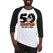 Prehistoric 50th Birthday Baseball Jersey