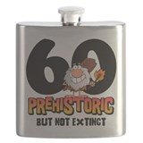 Prehistoric 60th Birthday Flask