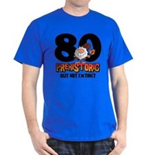 Prehistoric 80th Birthday T-Shirt