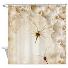 Transparent Butterflies Shower Curtain
