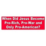 when did jesus... Bumper Car Sticker
