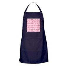 Books on Bookshelf, Pink. Apron (dark)