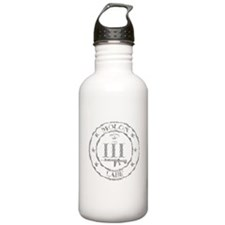 Stamped Molon Labe (Grey) Water Bottle
