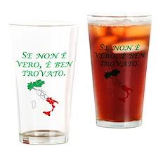 Italian Proverb Good Story Drinking Glass