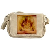 Female pelvis, coloured X-ray - Messenger Bag