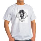 Funny Nubian Goat Shirt- Gray T-Shirt