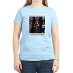 Stained Glass Women's Pink T-Shirt