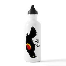 Fallen Blackbird Water Bottle