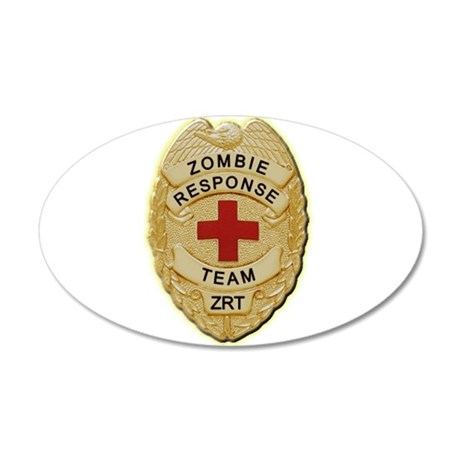 Zombie Response Team Badge Wall Decal
