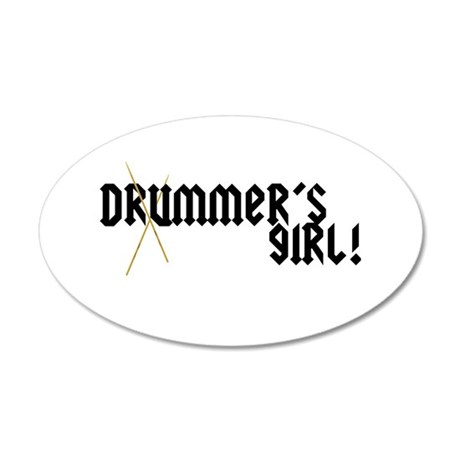 Drummers Girl Wall Decal