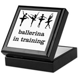 Ballerina in training Keepsake Box