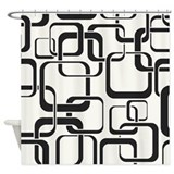 Black and White Retro Shower Curtain