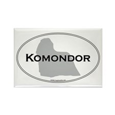 Komondor Rectangle Magnet