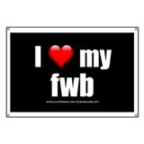 """I Love My FWB"" Banner"