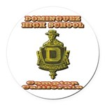 Dominguez High School Round Car Magnet