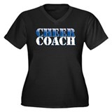 Cheer Coach Women's Plus Size V-Neck Dark T-Shirt