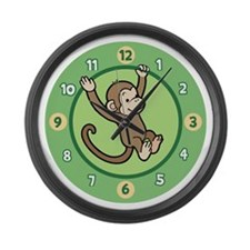 Cute Boys room decor Large Wall Clock
