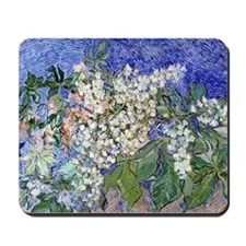 Van Gogh Blossoming Chestnut Branches Mousepad