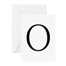 Greek Letter Omicron Greeting Cards (Pk of 10)